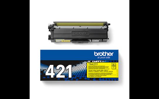 Brotherin alkuperäinen TN421Y-laservärikasetti – Keltainen 3