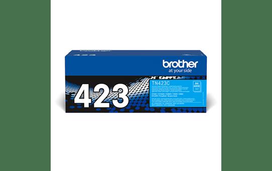 Brother TN423C: оригинальный голубой тонер-картридж.