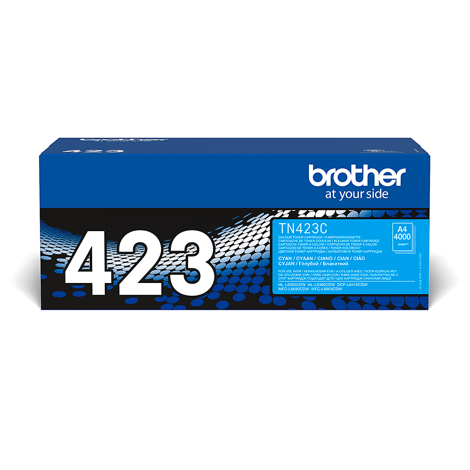 Cartouche de toner TN-423C Brother originale – Cyan