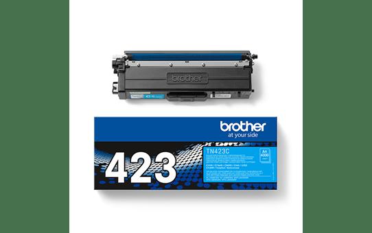 Brother TN423C: оригинальный голубой тонер-картридж. 3