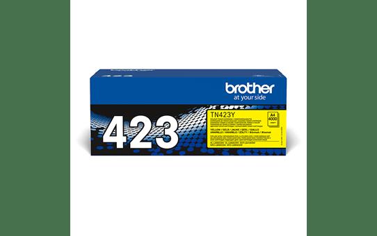 Originali Brother TN423Y dažų kasetė – geltonos spalvos