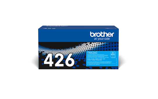 Brother original TN426C tonerkassett – cy