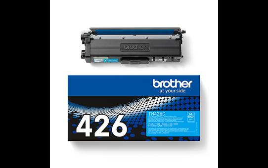 Eredeti Brother TN426C festékkazetta - ciánkék 3