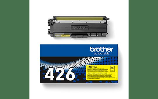 Original Brother TN426Y super høykapasitet toner – gul 3