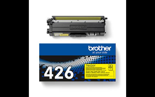 Brotherin alkuperäinen TN426Y-supervärikasetti – Keltainen 3