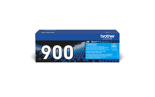 Brother TN900C: оригинальный голубой тонер-картридж.