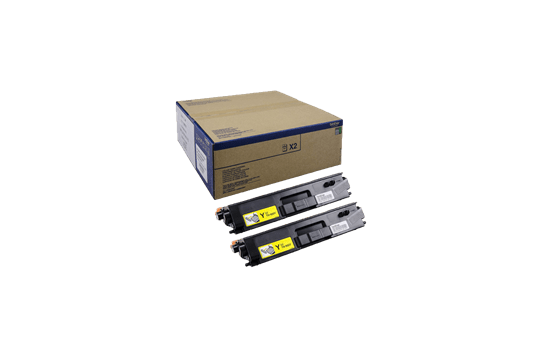 Brother TN-900Y Tonerkartusche Twin Pack
