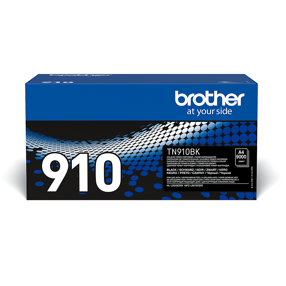 Brother original TN910BK tonerkassett – svart