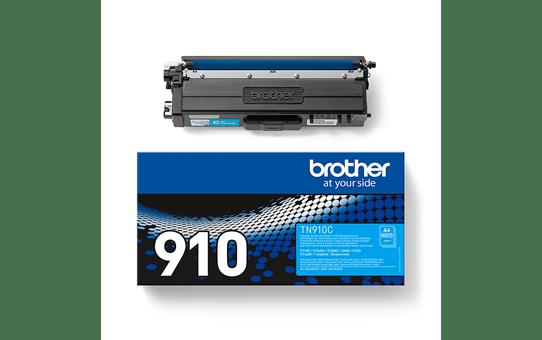 Оригинална тонер касета Brother TN910C – син цвят 3
