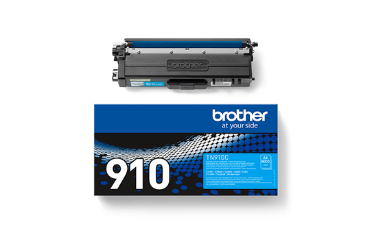 Originali Brother TN910C dažų kasetė – cyan spalvos 2