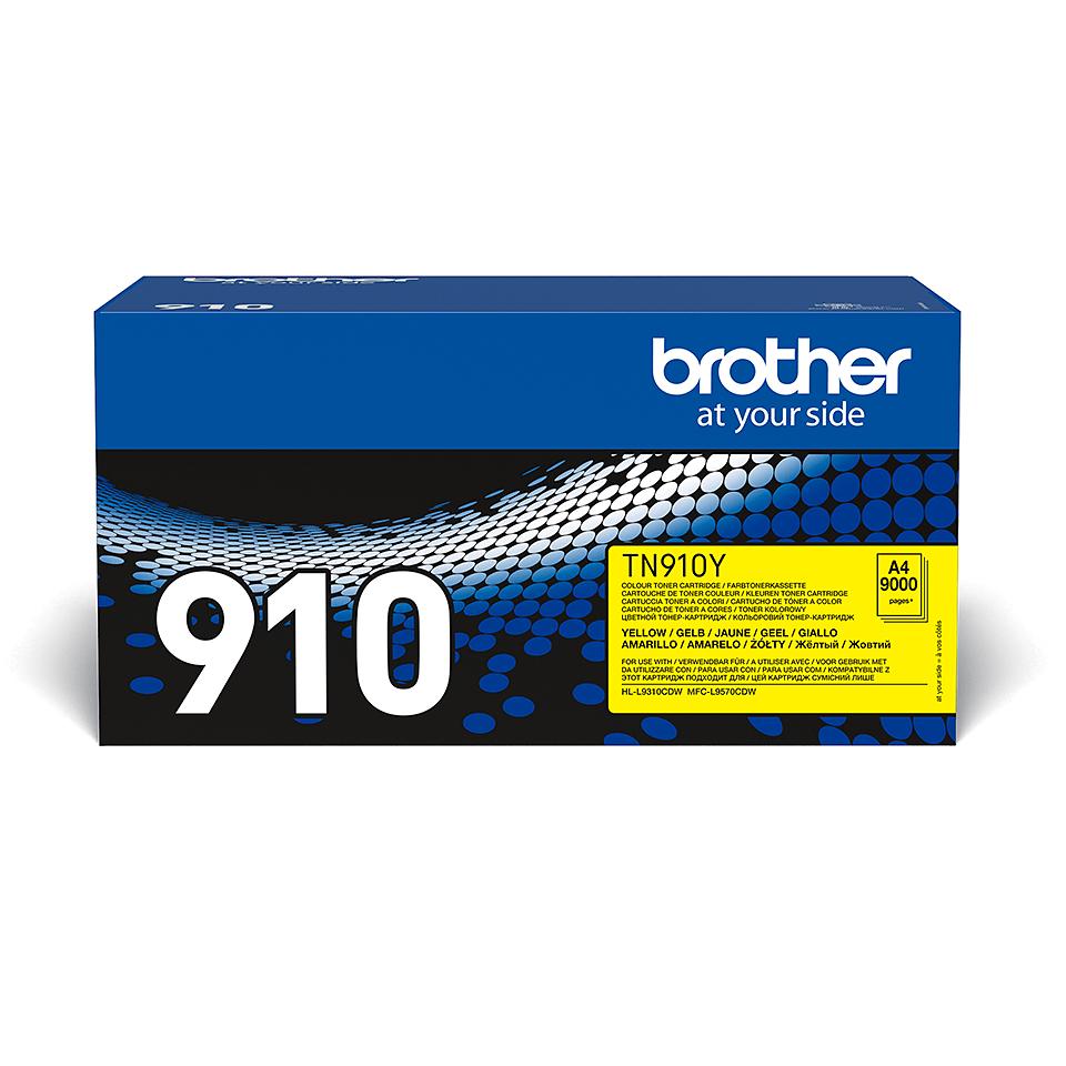 Brother TN910Y toner jaune - ultra haut rendement 2