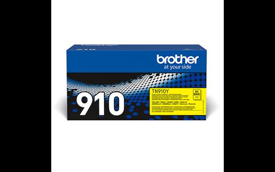 Originali Brother TN910Y dažų kasetė – geltonos spalvos