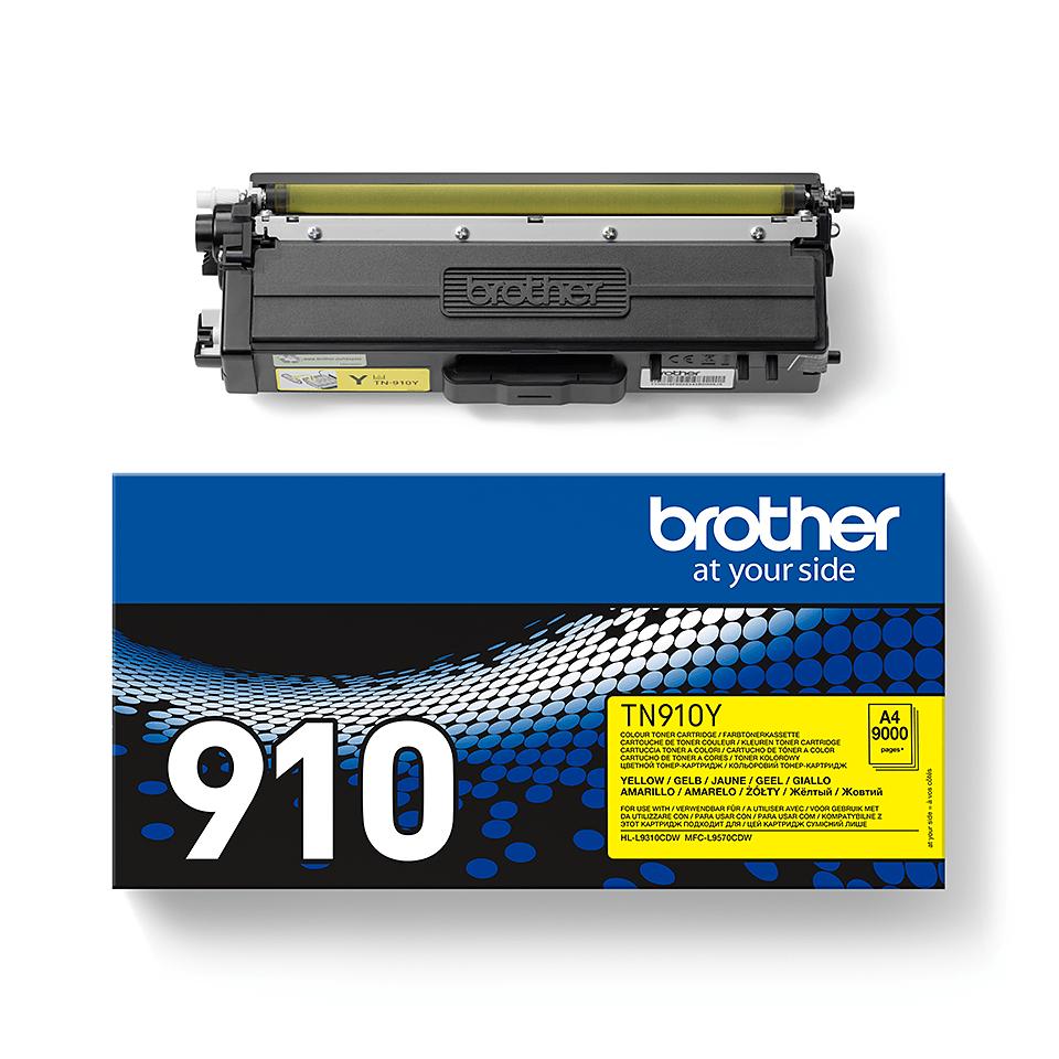 Brother TN910Y toner jaune - ultra haut rendement