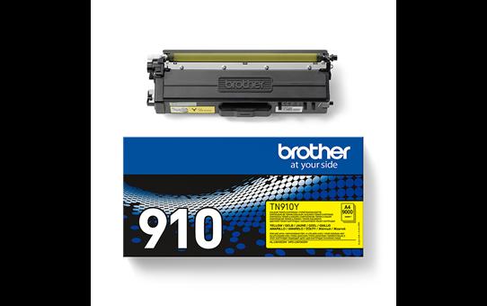 Brother TN910Y toner geel - ultra hoog rendement