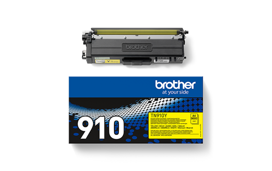 Brother original TN910Y tonerkassett – gul 2