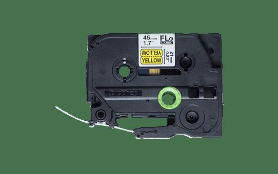 Cassette à ruban pour étiqueteuse FLe-6511 Brother originale - 72 étiquettes drapeaux pré-découpées - Noir sur Jaune, 21 mm de large 2