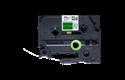 Brother original FLe7511 flaggtape stansade etiketter – svart på grön, 21 mm  2