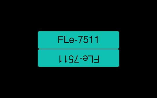 Brother original FLe7511 flaggtape stansade etiketter – svart på grön, 21 mm