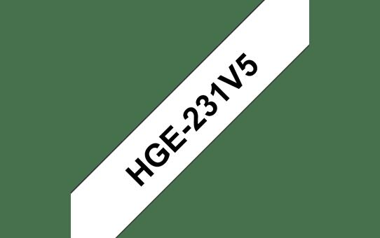 Brother HGe-231V5 Schriftband-Multipack