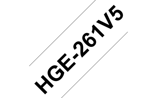 Genuine Brother HGe-261V5 Labelling Tape Cassette – Black on White, 36mm wide