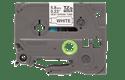 Original Brother HSe-211 krympeflextape – sort på hvid, 5,8 mm bred 2