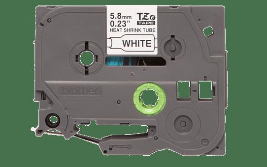 Oriģināla Brother HSe-211 termosēžas cauruļveida uzlīmju lentes kasete - melnas drukas, balta - 5.8 mm plata