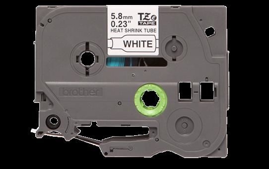Brother original HSe211 krympestrømpe - sort på hvit, 5,8 mm bred 2