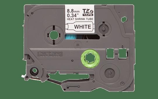 Oriģināla Brother HSe-221 termosēžas cauruļveida uzlīmju lentes kasete - melnas drukas, balta - 8.8mm plata