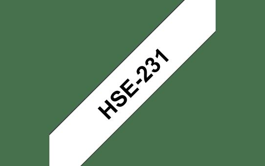 Original Brother HSe231 krympestrømpe – sort på hvit, 11,7 mm bred