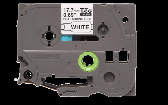 Original Brother HSe-241 krympeflextape – sort på hvid, 17,7 mm bred 2