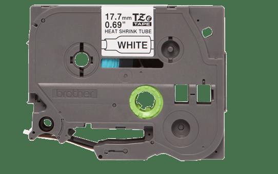 Brother HSe241 original krympslang, svart på vit, 17,7 mm 2