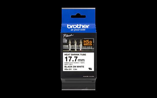 Original Brother HSe241 krympestrømpe – sort på hvit, 17,7 mm bred 3