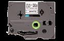Oriģināla Brother HSe-251 termosēžas cauruļveida uzlīmju lentes kasete - melnas drukas, balta - 23.6mm plata
