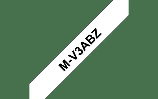 Pack de rubans pour étiqueteuse M-V3ABZ Brother original – Noir sur blanc