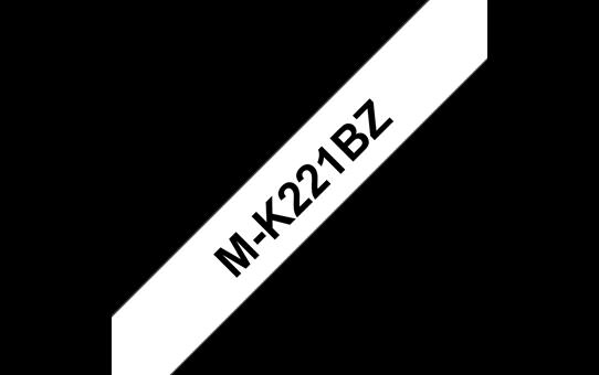 Brother original MK221BZ ulaminert merketape - sort på hvit, 9 mm bred 2