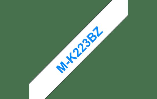Original Brother MK223BZ merketape – blå på hvit, 9 mm bred 2