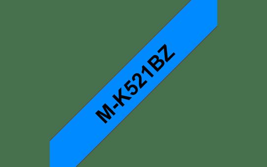 Original Brother MK521BZ merketape – sort på blå, 9 mm bred 2