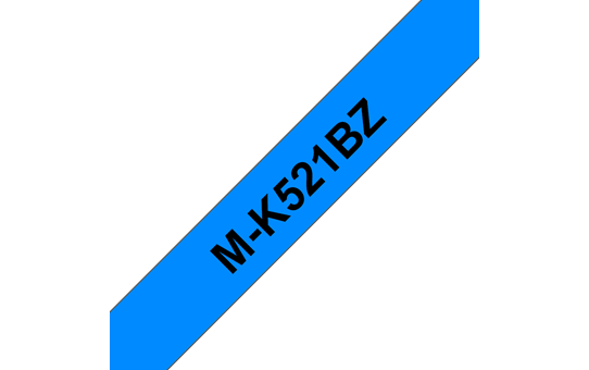 Genuine Brother M-K521BZ Labelling Tape Cassette – Black on Blue, 9mm wide
