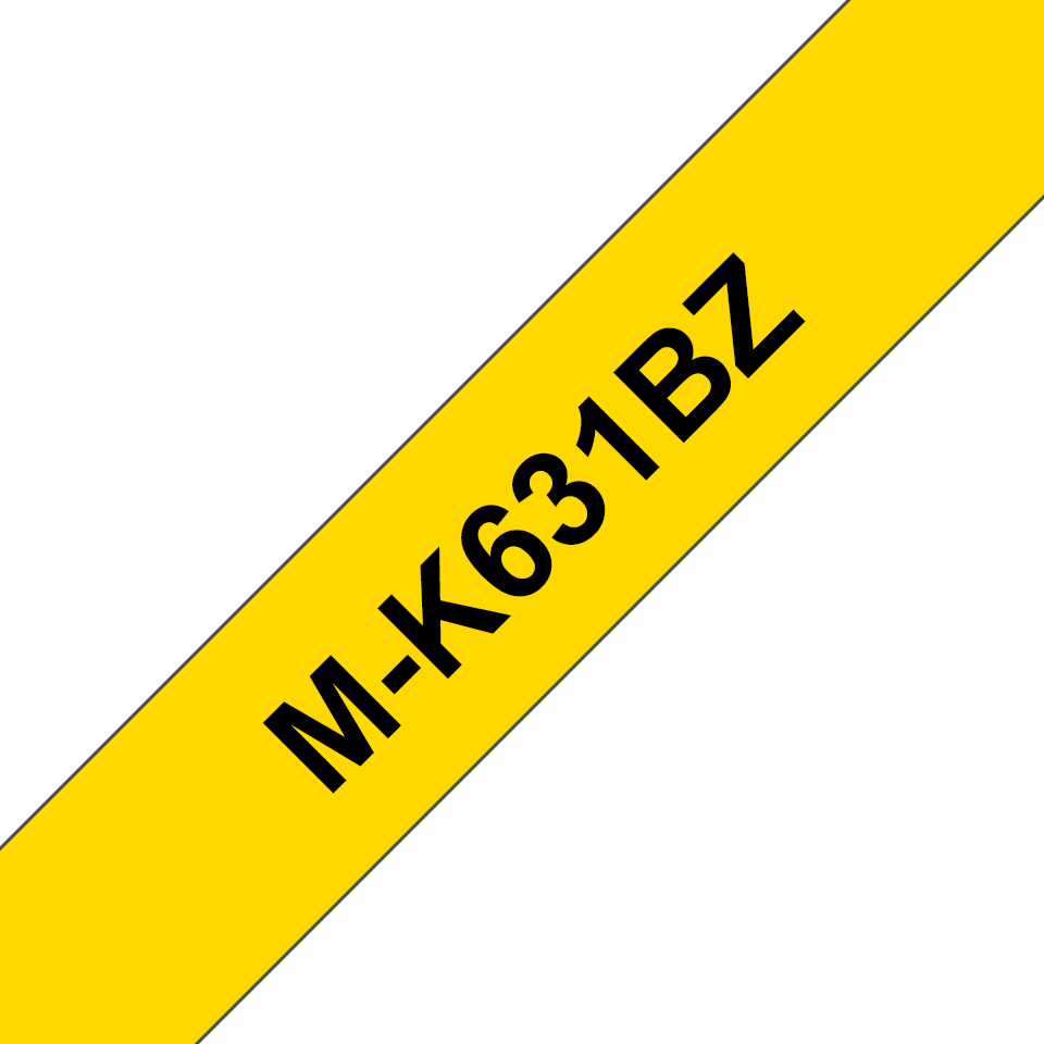 Cassetta nastro per etichettatura originale Brother M-K631BZ – Nero su giallo, 12 mm di larghezza