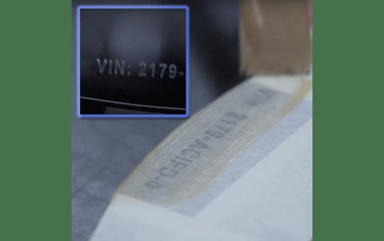 Brother STe-141 Schablonenband – weiß auf transparent 5