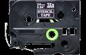 Cassette à ruban pochoir pour étiqueteuse STe-151 Brother original – Noir, 24mm de large 2