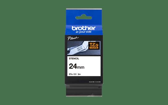 Genuine Brother STe-151 Stencil Tape Cassette – Black, 24mm wide 4