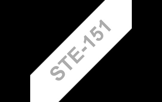 Cassette à ruban pochoir pour étiqueteuse STe-151 Brother original – Noir, 24mm de large
