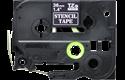 Oriģināla Brother STe-161 trafareta lentes kasete – melna, 36mm plata 2