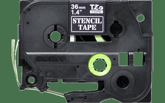 Cassette à ruban pochoir pour étiqueteuse STe-161 Brother originale – Noir, 36mm de large 2