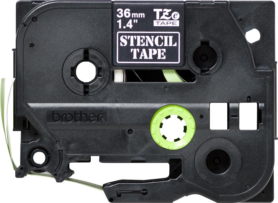 Eredeti Brother STe-161 stencil szalag – Fehér alapon fekete,  –  36mm széles 2