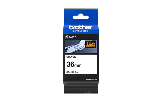 Cassette à ruban pochoir pour étiqueteuse STe-161 Brother originale – Noir, 36 mm de large 4