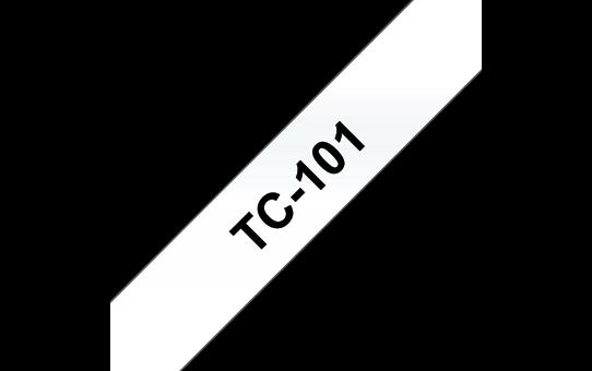 Original TC-101 Schriftbandkassette von Brother – Schwarz auf Transparent, 12mm breit