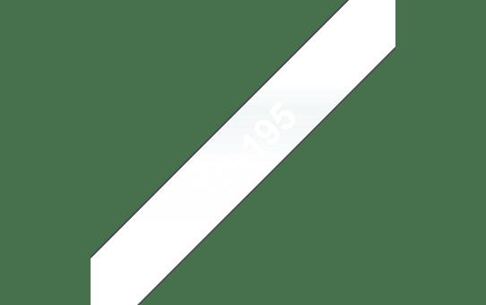 Original Brother TC195 tape – hvid på klar, 9 mm bred