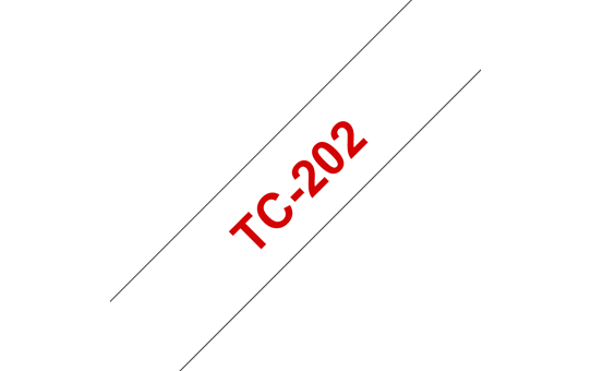 Original TC-202 Schriftbandkassette von Brother – Rot auf Weiß, 12mm breit